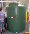 Rainwater harvesting tank at P.F.1